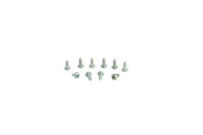 "Acorn 0124-010-001 #10 X 1/2"" PHILLIPS ROUND HEAD SELF-TAPPING CAD PLATED SCREW (10 PACK)"