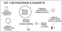 LEONARD 1/26 or 1-26 PACKING & GASKETS REPAIR KIT FOR TM-26 VALVE