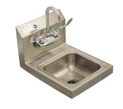 "Wall Mounted Stainless Steel Hand Sink with Faucet (17"" x 15-1/4"" x 13-1/2"")"
