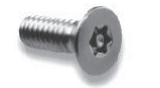 "Metcraft 11328 Screw 1/4-20 x 1.5"" Flat Head TORX S/S"