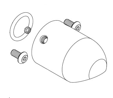 Acorn 1140-005-001 O-Ring Inlet Flangeless Shower Head Assembly