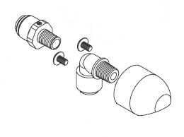 Acorn 1141-025-001 ADA-A Series Shower Head Assembly