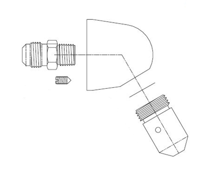 Acorn 1244-001-001 Penal Shower Head Assembly for Penal-Trol