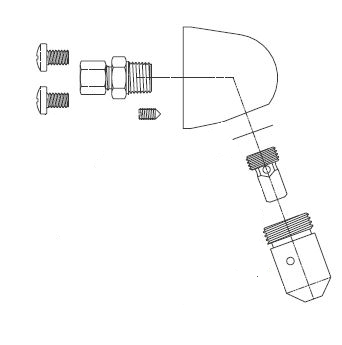 Acorn 1244-010-002 Penal Shower Head Assembly (-SSV)