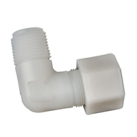 "Metcraft 16841 Elbow Compression by Thread Plastic 3/8"" MIP x 1/2"" OD"