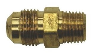 "Acorn 1891-007-000 3/8"" x 1/4"" Brass Flare x Male Half Union"