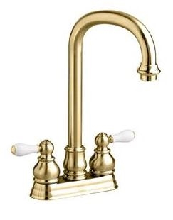 "American Standard 2770.712 4"" Spread Polished Brass Bar Faucet"