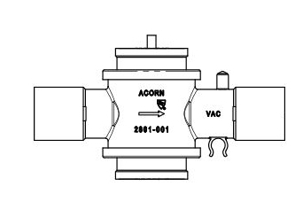 "Acorn VACV0001-001 (Old 2801-000-001) 1"" x 1-1/2"" Extraction Valve"