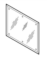 "Metcraft 29272 A753 Mirror - 12.5"" x 24"" ADA Front Mounted"