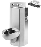 "Metcraft 3115-45R&L 15"" Lavatory-Toilet Comby"