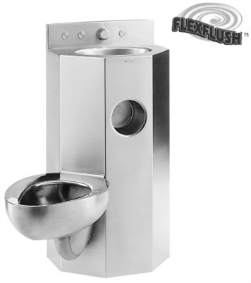 "Metcraft 3118-45R&L 18"" Toilet-Lavatory Comby"