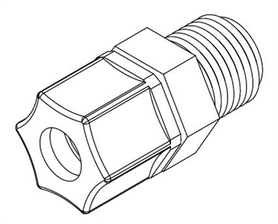 "Willoughby 320566 Connector, Ferrule, 3/8"" Tube x 3/8"" MPT"