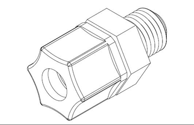 "Willoughby 321010 Connector, Ferrule, 3/8"" Tube X 1/4"" MPT"