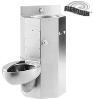 "Metcraft 3618-45R&L 18"" Front Mount Toilet-Lavatory Comby"