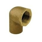 "3/8""x1/2"" Brass Female Elbow 90* CxFPT"