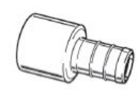 "1/2"" Brass Pex Female Adapter BARBxFemale Sweat"