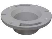 "PVC Schedule 40 Closet Flange Hub 4""x3"" Fits Outside 3"" Pipe"