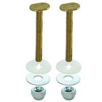 "Closet Bolts (Pair) 1/4""x2-1/4"" w/ Small Oval Head"