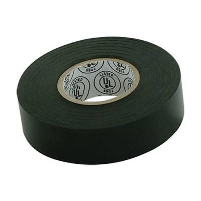 "Black electrical tape 3/4"" wide x 60' long"