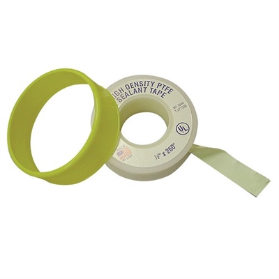"1/2"" x 260' Heavy 3 Mil Yellow Teflon Tape"