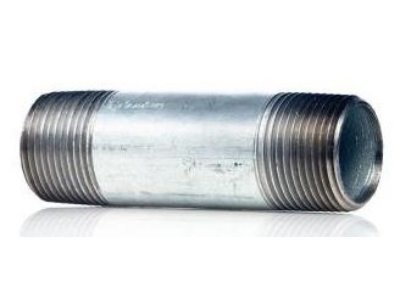 "3/8""xClose Galvanized Steel Nipple"
