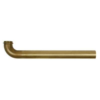 "Wall Bend Tubular Brass 1-1/4""x8"" 17 GA"