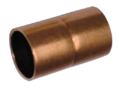 "1-1/4"" Copper Coupling CxC w/ Stop"