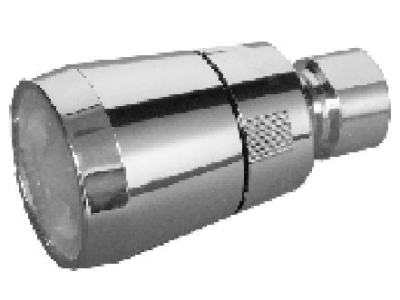 "All PVC Shower Head w/ White Face 1-3/4"" Face and PVC Ball Joint"