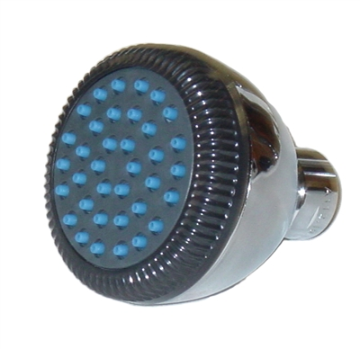 Chrome Plated PVC Shower Head w/ Brass Ball Joint