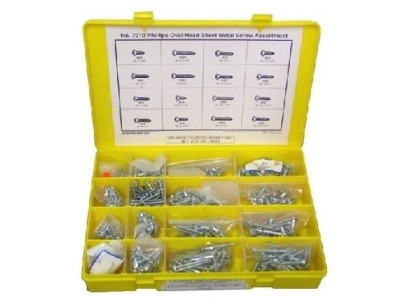 Phillips Pan Head Screw Kit w/ 16 Sizes 7010