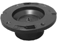 "ABS Schedule 40 4""x3"" Closet Flange w/ Knock Out Fits Over 3"" Pipe"