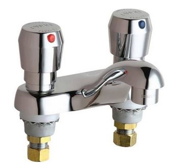 Chicago 802-V665ABCP Metering Faucet
