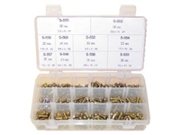 300 Piece Brass Bibb Screw Kit w/ 10 Popular Sizes