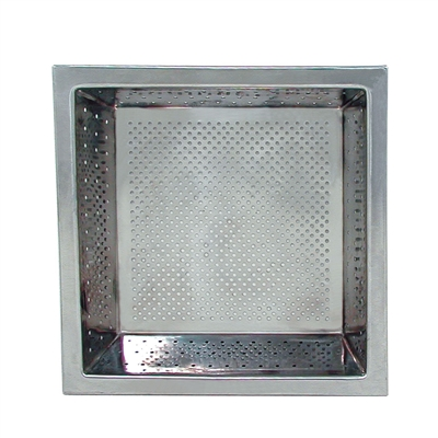 "10"" Square Floor Drain Strainer Basket"