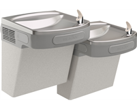Elkay EZSTL8LC Versatile Cooler Wall Mount Bi-Level ADA Non-Filtered, 8 GPH Light Gray Granite