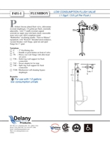Delany F451T42 Flush Boy Urinal Flush Valve 1.0 GPF