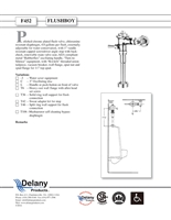 Delany F452-T42 Flush Boy Urinal Flush Valve 4.0 GPF