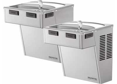 Halsey Taylor Cooler HAC8FS-BL SS, Wall Mount, Bi-Level, ADA, Non-Filtered, 8 GPH, Stainless