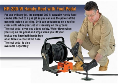 General Pipe Cleaners HM-200-W Handy Reel with Foot Pedal (No Hose