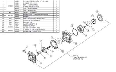 Willoughby PVK-5 Top 4 Rebuild Kit