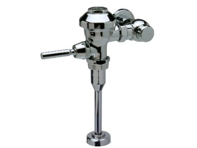 Zurn Z6003-WS-YB-YC Aquaflush exposed quiet diaphragm type flush valve has a top spud connection for urinals 1.5 GPF