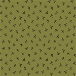 4914-G Pumpkin Spice Birds on Green