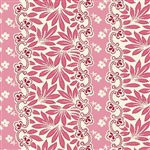 5484-E Pink, Red & Cream Border Stripe