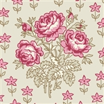 5485-N Rose Bouquets on Tan