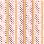 5918-R Pink Dots & Tan Stripes
