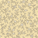 7255-LY Yellow Floral Vines