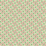 7777-NG Green Floral Basketweave
