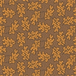 7875-N Gold Leaves on Brown