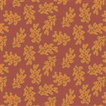 7875-R Orange Leaves on Red