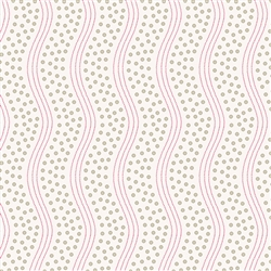 8008-L Tan Dots Wavy Stripe